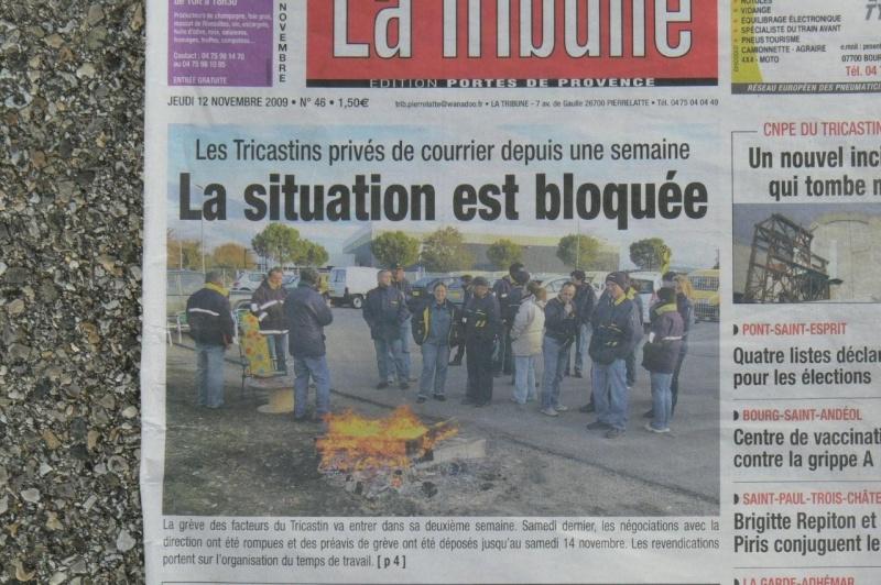 Article LE DAUPHINÉ, édition du 10 novembre 2009: conflit Pierrelatte/Saint Paul 3 Châteaux Centre Courrier dans la Drôme P1020910_800x600